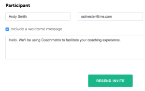 Coachmetrix - Edit Name and Email