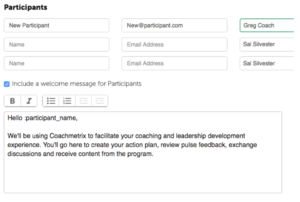 Coachmetrix - Adding Participants
