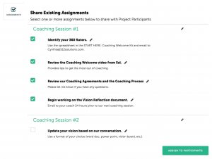 Coachmetrix - Assignments