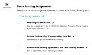 Coachmetrix - Create Assignments
