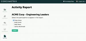 Activity Report - Coachmetrix